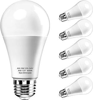 E27 LED Glühbirne,Hilleagle 1200 Lumen 13 Watt LED Ersetzt 100W Glühlampe,6000 Kelvin kaltweiß A60 Leuchtmittel Energiespa...