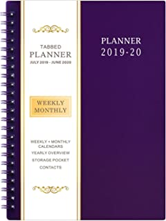 2019-2020 Academic Planner - Weekly & Monthly Planner, 6.25