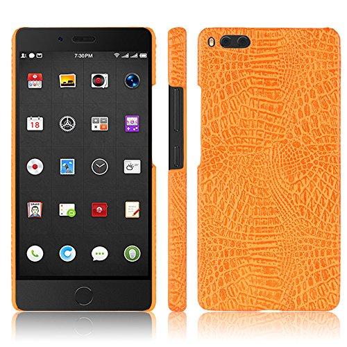 Handy Kasten für Smartisan U1 Pro PU Leder Krokodil Haut Hülle Back Hülle Cover-Orange