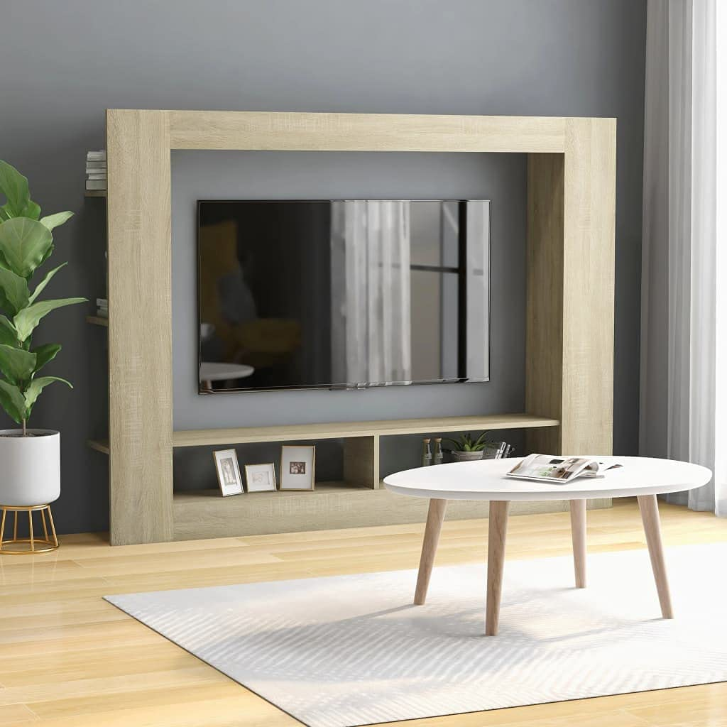 Popular products INLIFE TV Outlet SALE Cabinet Sonoma Oak 59.8