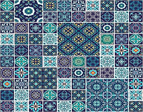 HASENCIV Pintura de Diamante DIY para Adultos Azulejo de mosaico tradicional Azulejos de cerámica culturales portugueses Diseño popular Bricolaje Diamond Painting 30x40cm Rhinestone Bordado de