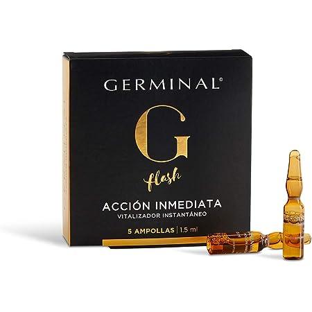 Germinal - Sérum Facial Efecto Flash, Lifting Inmediato, con Proteínas de Maíz y Extractos de Ginseng, Acción Inmediata - 5 Ampollas de 1,5ml