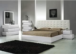 Best Master Furniture Spain 5 pcs Modern Bedroom Set, Cal. King, White