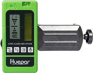 Huepar レーザー墨出し器専用 受光器 レーザーレシーバー 【huepar赤色緑色レーザーだけ対応】 精度調節 音量調節可能 両面LCDディスプレー バックライト ホルダー付き 測量用品 LR-5RG【huepar専用】