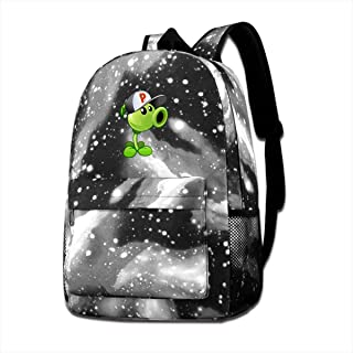 Zhenzhan Peashooter Costume Starry Sky School Backpack For Mens Middle School Daypack