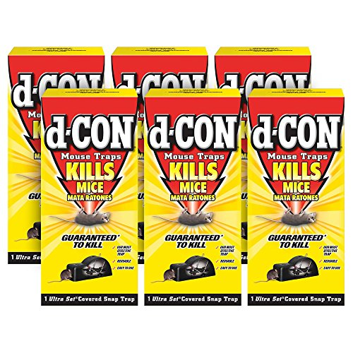 d-CON Reusable Ultra Set Covered Mouse Snap Trap, 6 Traps (6 Packs x 1...
