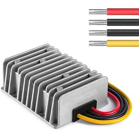 ZHITING Regulador del convertidor de Potencia de CC Impermeable, DC/DC 48V / 36V Paso a DC 12V 20A 240W Transformador de Fuente de alimentación Módulo de voltios para Carrito de Golf Módulo