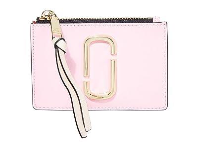 Marc Jacobs Snapshot Top Zip Multi Wallet (Powder Pink Multi) Wallet Handbags
