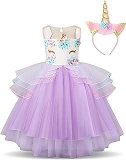 2d00811c46e46 ... Robes fille · NNJXD Robe Licorne Enfant de Princesse