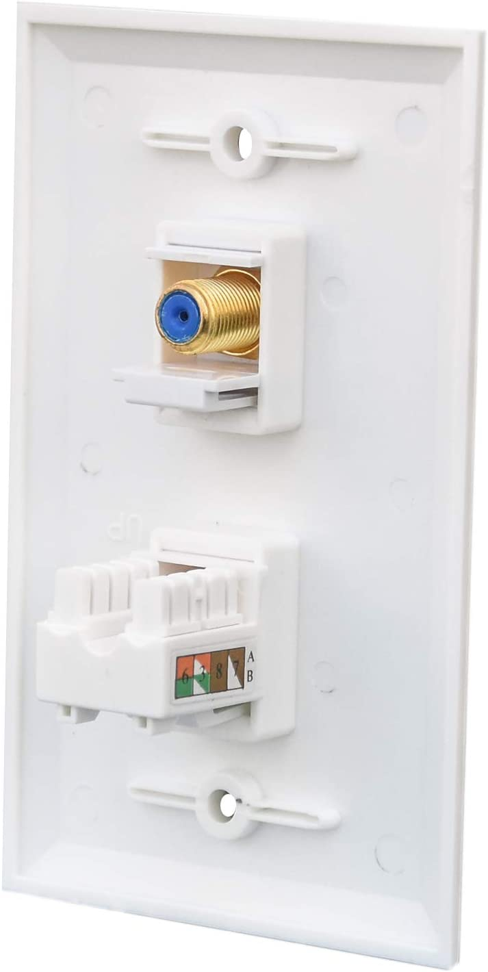 BUPLDET Ethernet Punch Sales results No. 1 Down Coaxial Wall Plate - 5% OFF Coax RJ45 CAT6