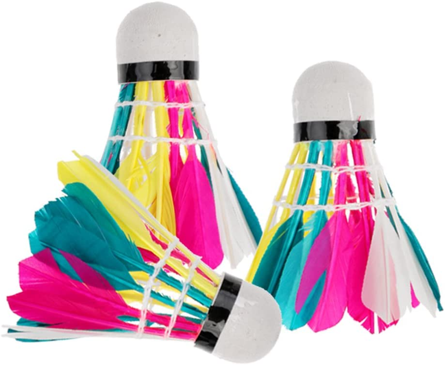 chiwanji 3Pcs Colorful New product type Shuttlecocks Birdies for Ball Badminton Daily bargain sale O