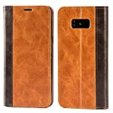Mulbess Funda Samsung Galaxy S8 Plus [Libro Caso Cubierta] Billetera Cuero Carcasa para Samsung Galaxy S8 Plus / S8+ Case, Marrón
