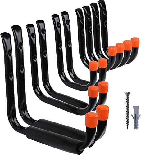"""discount HORUSDY popular 10-Pack Heavy Duty Garage new arrival Storage Hooks Assorted Utility Hooks, 9"""", 7"""", 5"""", 3.5"""", 3"""" Two Each outlet online sale"""
