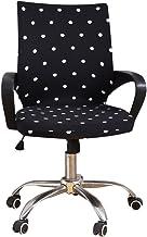 ChicSoleil Housse pour Chaise /Élastique Amovible Extensible Couleur Pure Office Slipcover Chair Cover Protector pour Chaise de Bureau Housse de Fauteuil Rotatif Housse de Chaise Accoudoirs