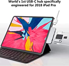 HyperDrive USBC Hub Adapter 6-in-1 Dongle with USB C PD Charging, 4K HDMI, USB 3.0, 3.5mm Headphone Jack, SD, Micro SD - Compatible with iPad Pro 2018 (Space Gray)