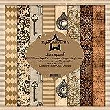 Dixi Craft Paper Favourites Steampunk - Paquete de papel (30,5 x 30,5 cm, 200 g/m²)