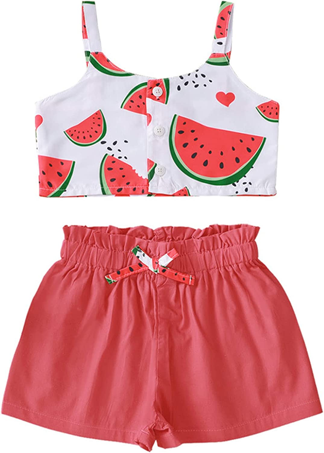WINZIK Max 59% OFF Toddler Kid Baby Girl Summer Of Ruffle Clothes Set Outfit Trust