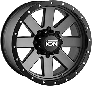 Ion 134 Matte Gunmetal/Black Beadlock Wheel with Painted Finish (18 x 9. inches /8 x 170 mm, 0 mm Offset)