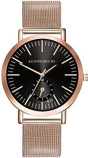 chenqiu Ladies Rose Gold Watch, Fashion Luminous Pointer Colorful dial Simulation Quartz Watch, Business Waterproof Watch