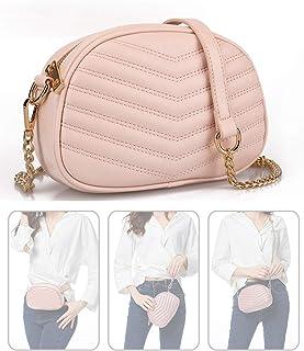 La moda de las mujeres 3 maneras en 1 Crossbody Satchel Bolso Pequeño Bolso y la cintura Pack Bolsos de Hombro Pulsera