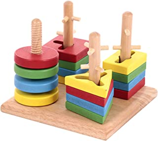 Canoe Wooden 4-Column Stacking Game Toy - CT181216RJ86