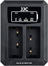 JJC NP-W126 Battery Charger USB Dual Slot for Fuji Fujifilm X-T20 X-T30 X-T3 X-T2 X-T10 X100F X-H1 X-E3 X-A5 X-T100 X-PRO2 X-PRO1 X-T1 X-E2 X-E2S X-E1 X-A3 X-A2 X-A1 X-M1 and More Fujifilm Cameras