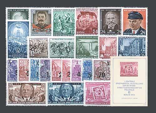 Goldhahn DDR Jahrgang 1954 postfrisch komplett Briefmarken für Sammler