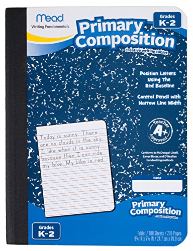 Mead Primary Composition Book, Ruled, Grades K-2, 100 Sheets (09902)