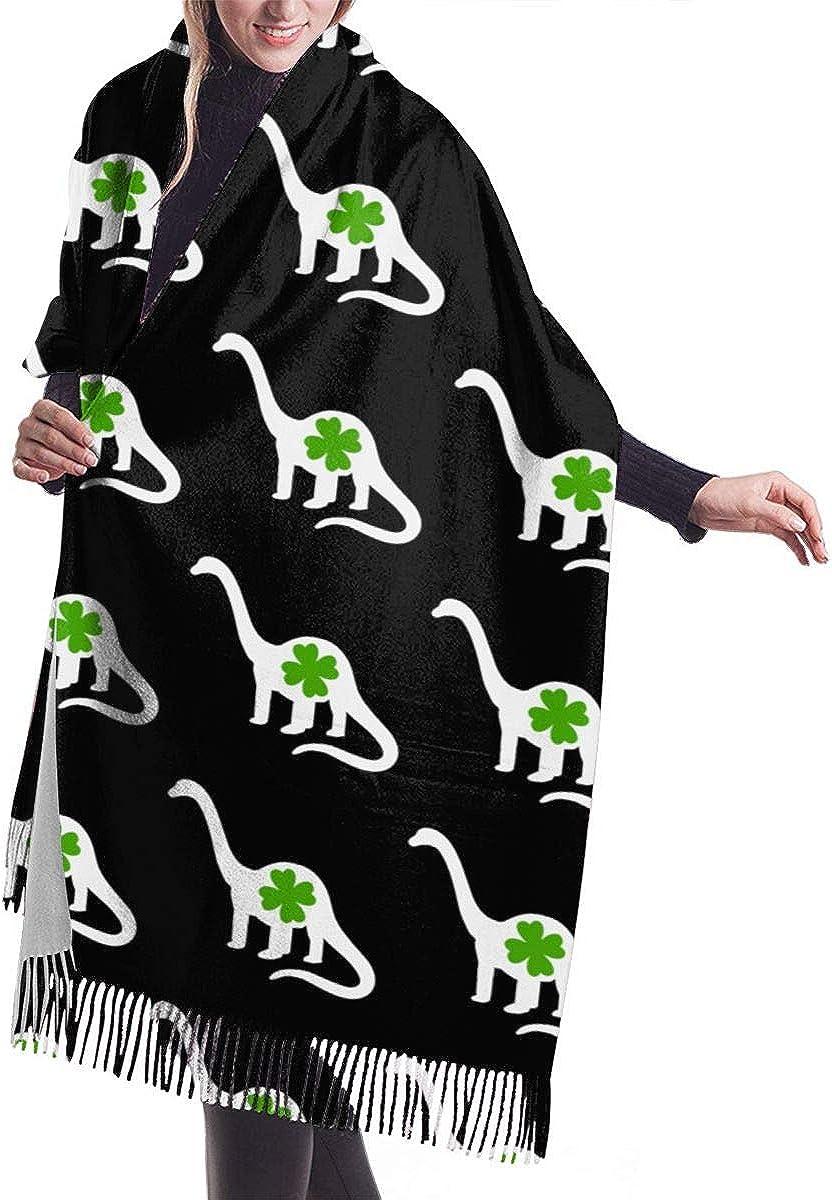 Irish Dinosaur Shamrock. Winter Scarf Cashmere Scarves Stylish Shawl Wraps Blanket