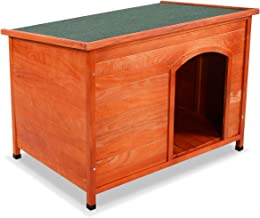 Tangkula Dog House Pets Products Pet Extreme Log Cabin Weather Resistant Home Outdoor