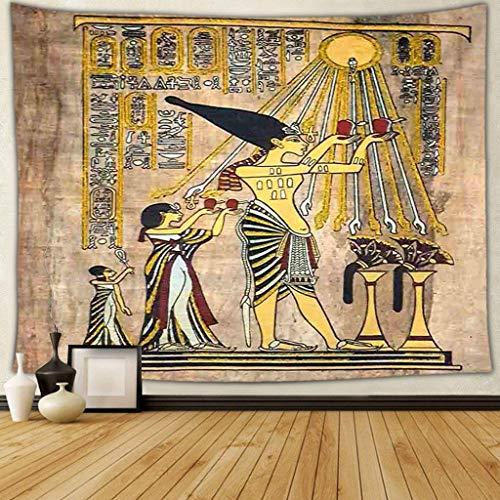 Qmber Tagesdecke Tagesdecke indisch orientalisch Psychedelic Indisch Wandteppich Mandala Elefant Boho Wandtuch Hippie Alte ägyptische Artteppich der Weinlese,E