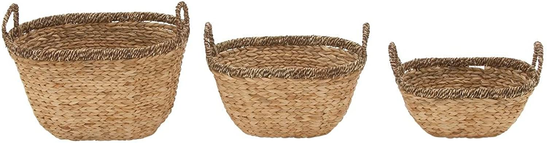 Benzara 49077 Great Sea Grass Basket, Set of 3