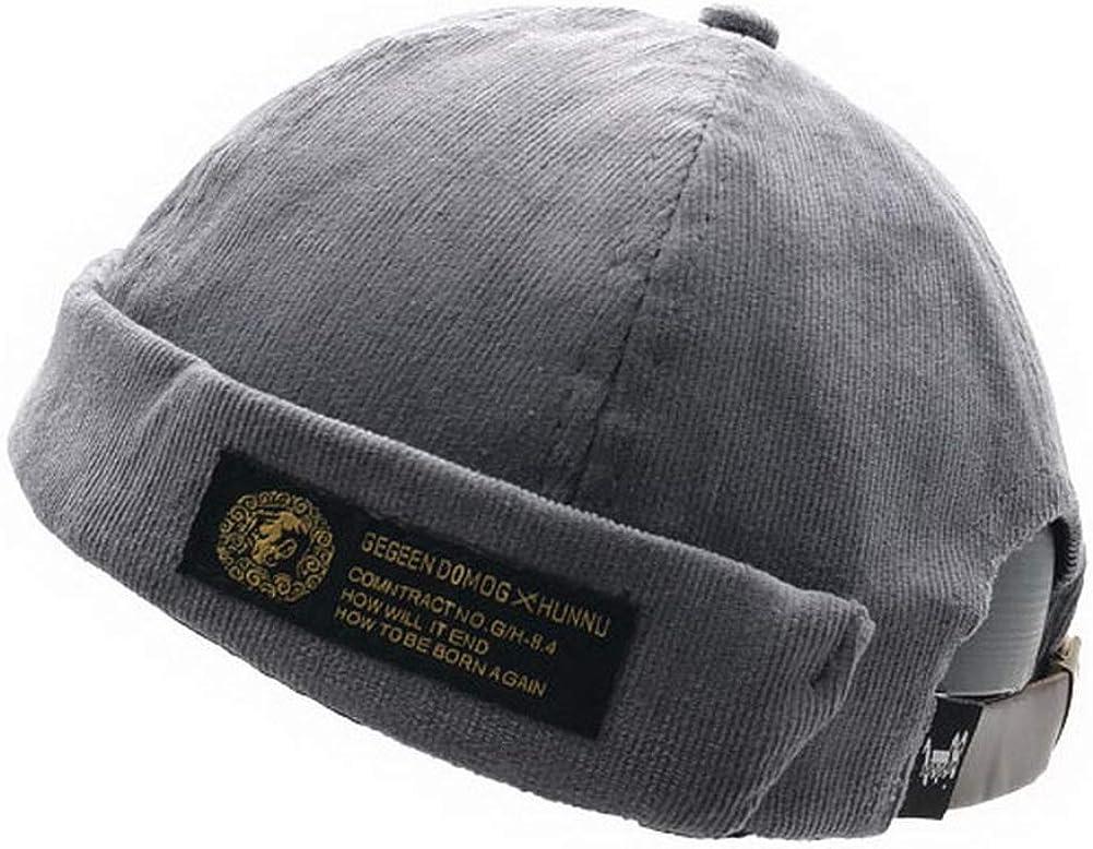 Zegoo Unisex New products, world's highest quality popular! List price Beanie Corduroy Docker Rolled Brimless Hat Har Cuff