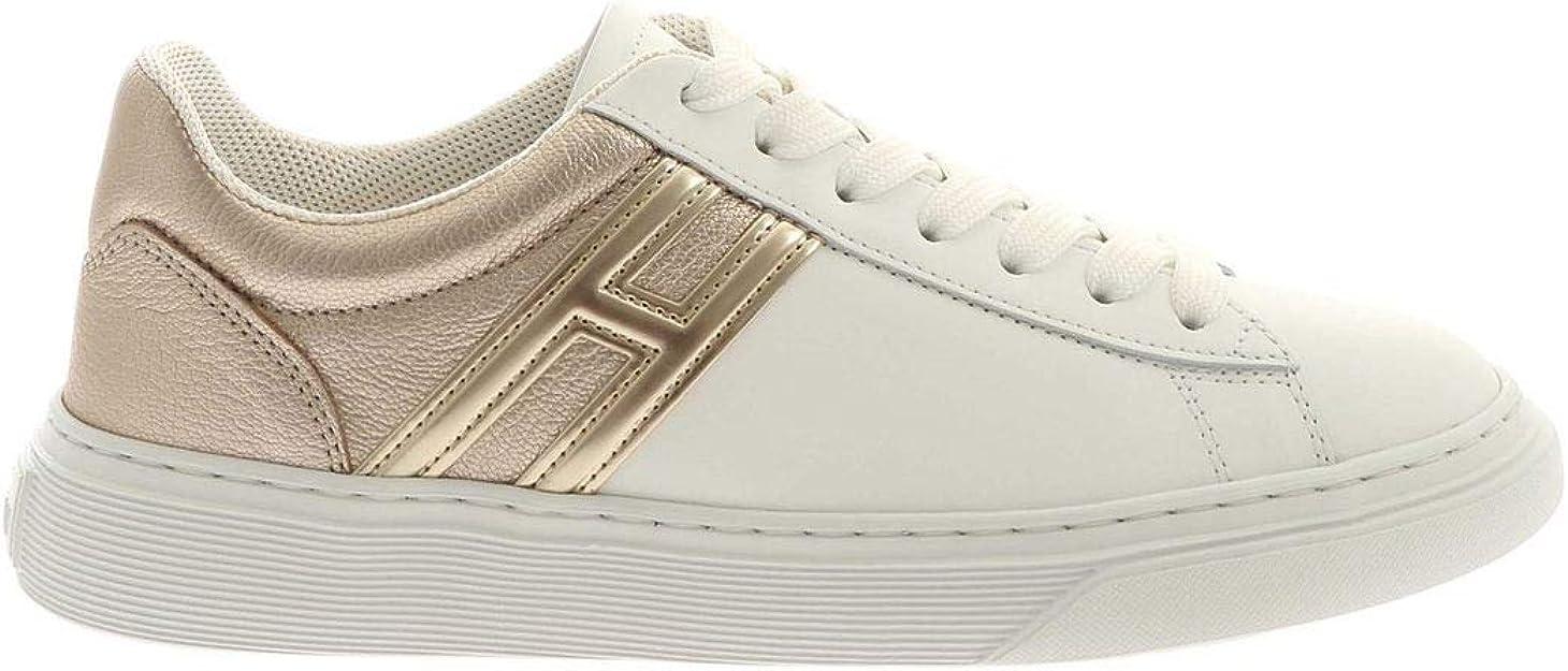 Hogan Sneakers H365 Bianche E Color Platino HXW3650J971OXB1556 ...