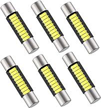6PCS 29mm 6614F Festoon LED Bulb, Extremely Bright 9-SMD 4014 chips 6641 6612F LED Bulb, Fit for Vanity Mirror Lights and Sun Visor Lights, 6000k White