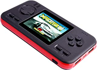 PO شارژر قابل حمل POKPOW با بازی های دستی ، شارژ سریع پاور بانک و کنسول بازی 8000 mAh 218 یکپارچه سازی باتری خارجی USB باتری خارجی برای تلفن ، پد و سایر دستگاه های هوشمند (سیاه)
