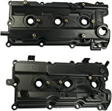 LH & RH Valve Covers with Gasket & Spark Plug Seals for 2002-2004 Infiniti I35 2002-2006 Nissan Altima 2002-2008 Maxima 2003-2007 Murano 2004-2009 Quest 132648J102