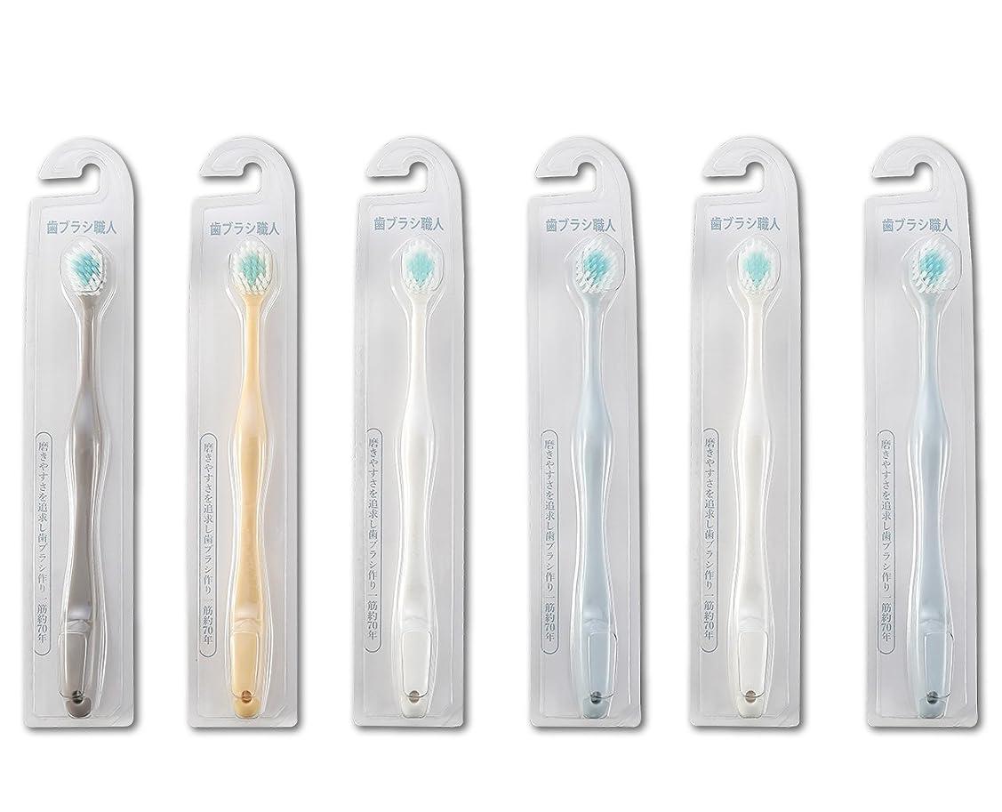 夜アプローチメタルライン歯ブラシ職人Artooth ? 田辺重吉 磨きやすい歯ブラシ ワイド 6列レギュラー AT-30 (6本組)