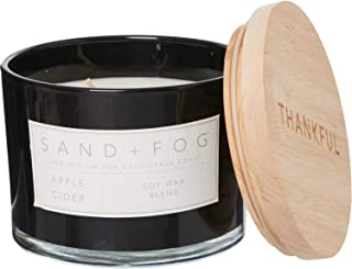 Sand + Fog Apple Cider Carved Wooden Lid Candle - 12 Oz. – from The Thankful Collection