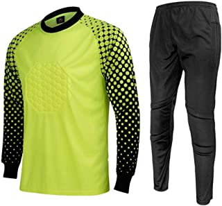 b500c7e18 CATERTO Men's Football Goalkeeper Foam Padded Jersey Shirt & Pants/Shorts
