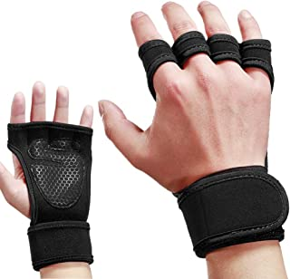 Skudgear Upgraded Palm Protection Weightlifting Gym Gloves Cross Training Silicone Padding Grip Adjustable Wraps - Size M