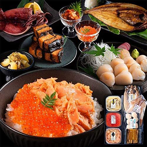 お中元ギフト 人気 ランキング 島の人 北海道 高級 海鮮 7点セット 笑 (えみ) ギフト 贈答 内祝い 秋鮭