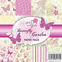 Wild Rose Studio Paper Pack, 6 by 6-Inch, Butterfly Garden