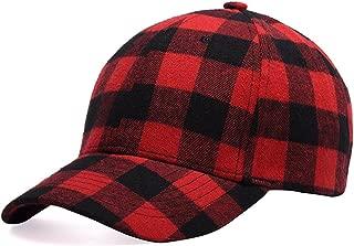 Plaid Print Baseball Cap Soft Cotton Blend Checked Print Outdoor Hat Cap