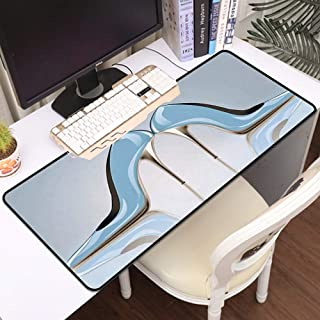 Luoquan Alfombrilla Raton Grande Gaming Mouse Pad,Tacones Altos de Cielo Azul Femenino con Mariposa de Mujer,Impermeable A...