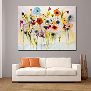 DMStar Abstract red Yellow Blue Modern Wall Picture for Living Room Painting Mural Picture Canvas Art no Frame