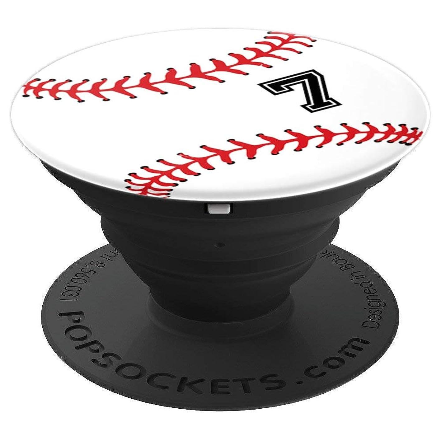 Number 7 Baseball - Design Series - PopSockets Grip and Stand for Phones and Tablets zbemmmjmzru005