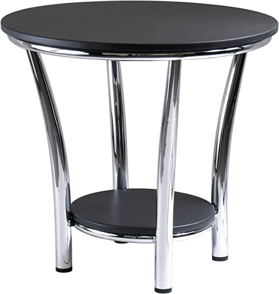Winsome Wood 93219 Maya Occasional Table Black Metal