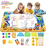 HOMILY Doodle Mat Water Doodle Mat for Toddlers Aqua Drawing Doodle Mat Large Magic Aqua mat for Kids Educational Toys for Toddlers Mess Free Drawing Mat Toys Gifts for Girls and Boys 40'x 28'