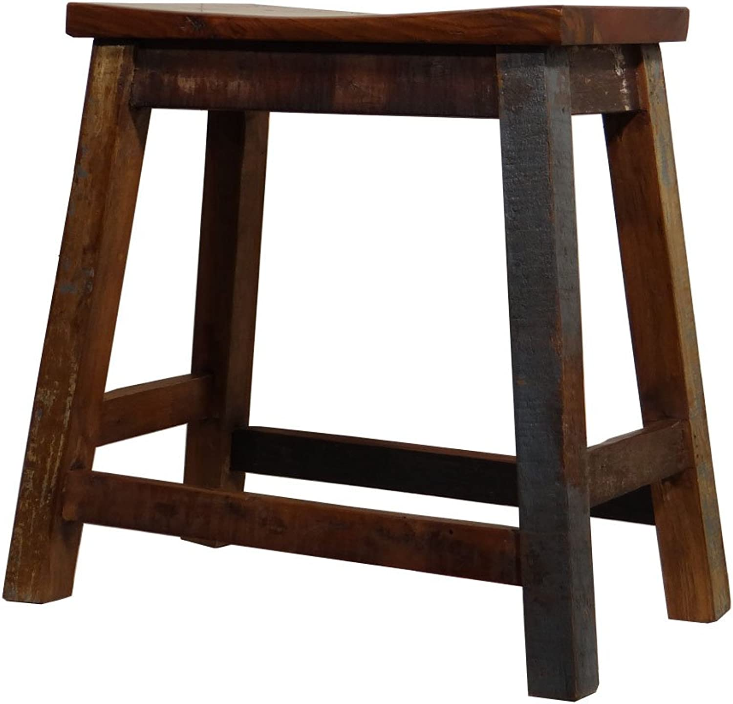 Present Company Reclaimed Wooden Stool Fairly Traded From India